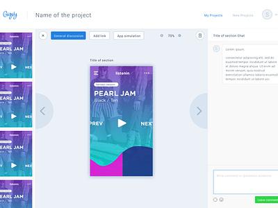 Gigvy collaboration design workflow platform prototyping mobile project app ux ui