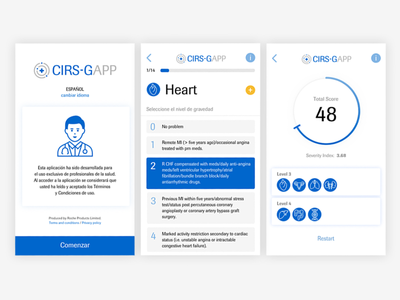 CIRS-G APP medical score logo icon brand ux ui app