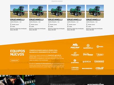 Website DZ web design website grey orange ux ui responsive web