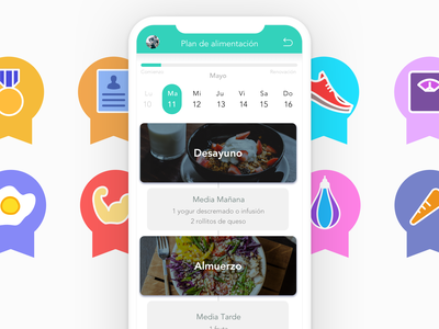 Agita Gym interface app icon visual design design ux ui