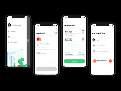 Wiselly Transfer finance app fintech bank app transfers userflow interaction design friendly fin tech mobile app design mobile app illustration visual design app ux design ui