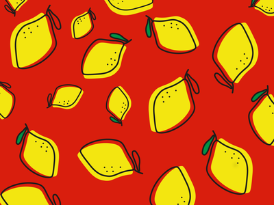 lemonade retro branding web design art pattern graphic design flat illustration red lemon