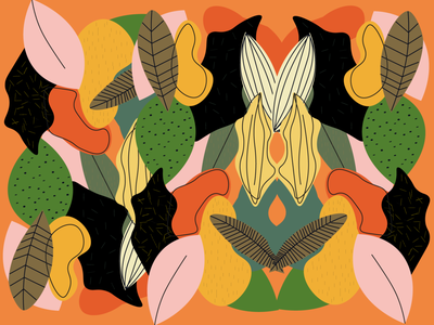 Jungle pattern logo brand graphic design vector jungle art web flat illustration design