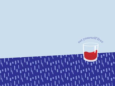 Wine glass wine branding logo vector art web graphic design illustration flat design