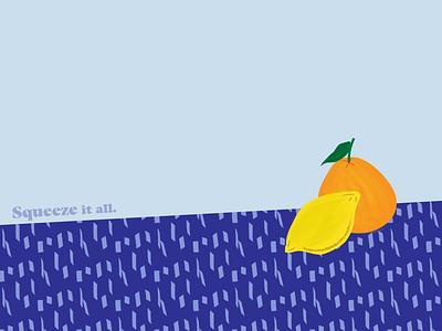 Fruit lemon fruits brand logo vector art web graphic design illustration flat design
