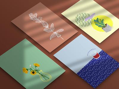 4 web pattern flower branding poster art brand art graphic design illustration flat design