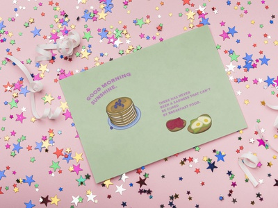 Pancake web brand art graphic design flat illustration postcard design