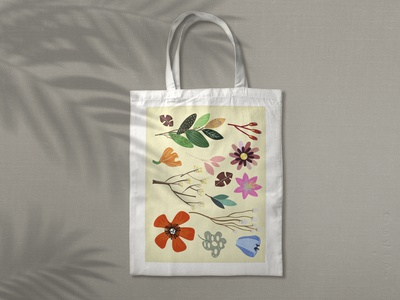 Flower BAG web branding flower logo bag art graphic design illustration flat design