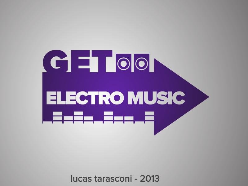 Get Electro Music Logo logo electro flat design