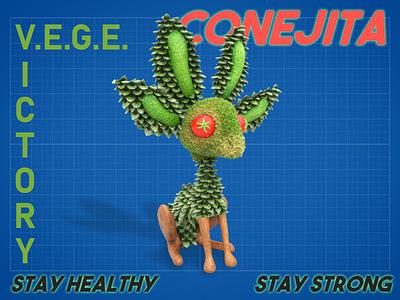 NVIDIA Studio unofficial mascot challenge entry 3d art 3d design conejita