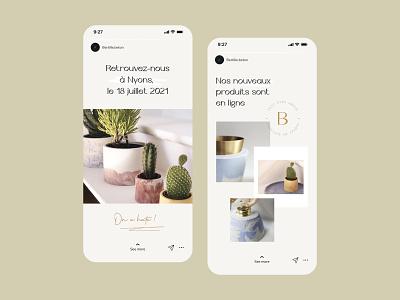 Bertille Stories story instagram branding mobile vector
