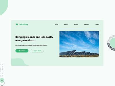 Solarplug - Landing Page saas solarplug web ui solar solar energy landing page kenya
