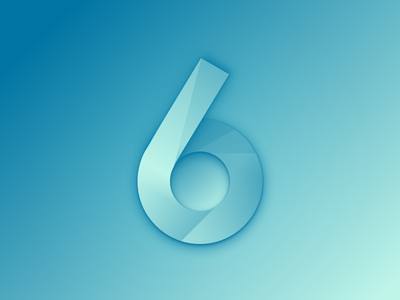 Typehue 6 shading abstract exploration design lettering number type 6 six typehue