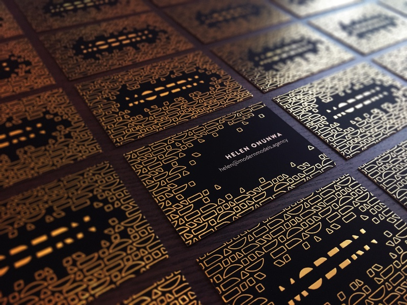 Modern - Business Cards sketch indesign photo impact geometric abstract effect artdeco cards business foil gold print branding