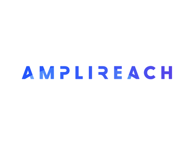 Amplireach concept wordmark horizon reject sketch design branding logo