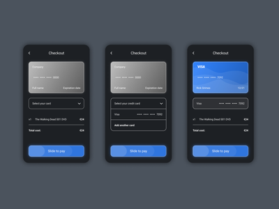 Daily UI #002 - Credit card checkout store credit card ux app design ui daily android