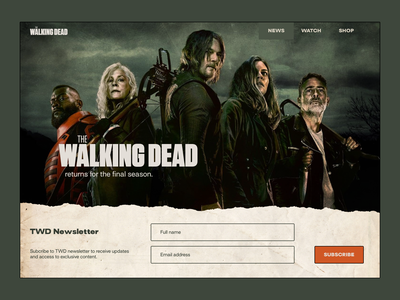 Daily UI #003 - Landing page fan-made tv series the walking dead landing page daily figma design website daily ui ui