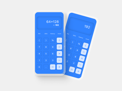 Daily UI #004 - Calculator neumorphism simple calculator x iphone app design ux ui daily ui