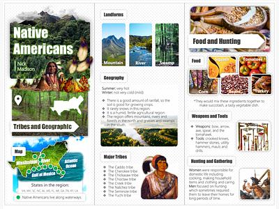 Native Americans Brochure design