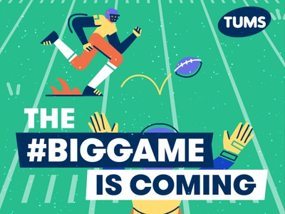 The Super Bowl is coming! emoji commercial tums bingo retro panic studio american football characters illustration football game iconography icons sports superbowl