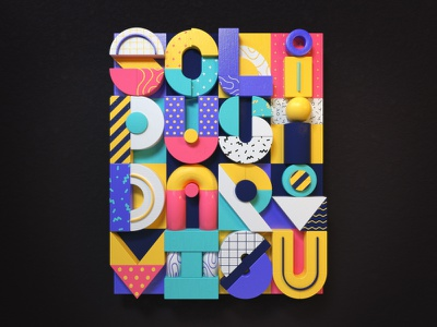 Promise little, but do much typography letters poster resolution c4d 3d illustration