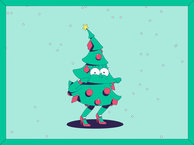 Christmas stories coming alive! motion graphics frame by frame illustration panic studio snow lights character twerking dancing xmas greetingcard christmas dancing christmas tree