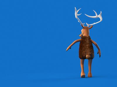 Dancer's Got Talent - Moonwalk jackson moonwalk greeting 3d character design character animation c4d dance christmas reindeer panicstudio jump