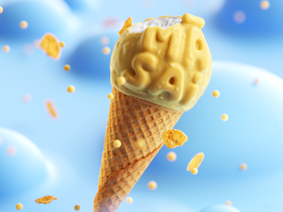 Print for TIO ice cream campaign for sister family sister tasty product 3d design cinema4d poster dessert food ice cream outdoor illustration print panicstudio