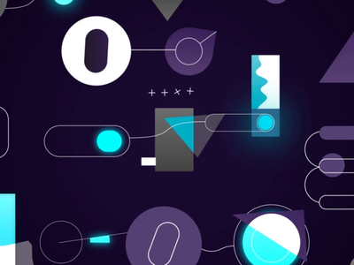Aico product video workflow automation after effects c4d panicstudio shapes geometrical abstract panic studio rubik grid gradient glow gif flat cube animation illustration