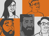 Creative Calls Podcast Guest Caricatures