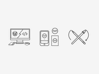 A Specific Set of Skills simple vector design flat illustrator iconography icon