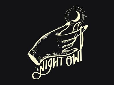 Night Owl Illustration branding vector logo lettering design illustrator illustration handwritting