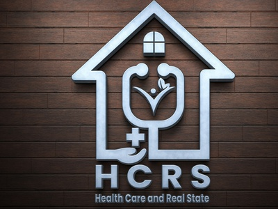 Real Estate and Health Care logo vector latter icon illustrator typography logo illustration design