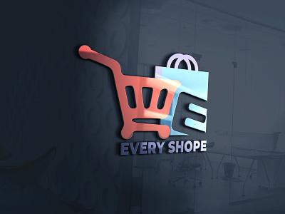 There are a Modern and Minimalist Shopping logo design. vector branding ui latter illustrator logo illustration design