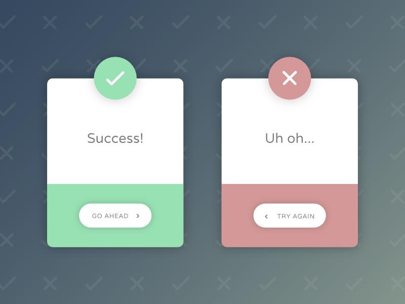 Flash Messages cards flash ux ui dailyui design concept