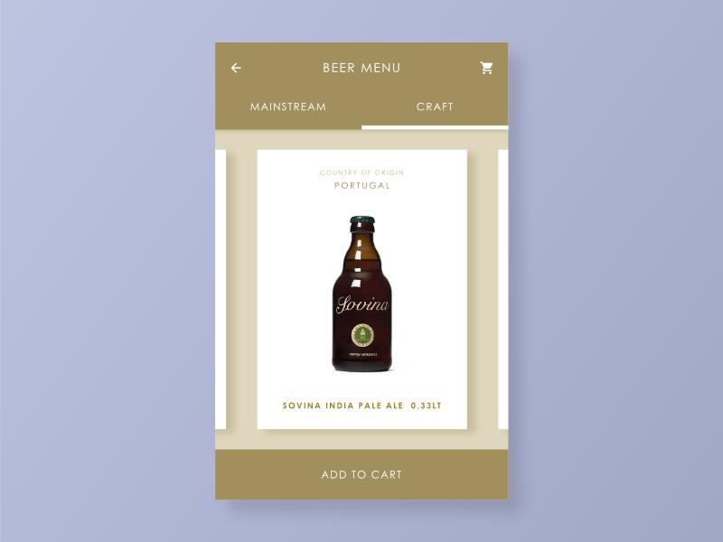 Beer Menu beer app flat concept design dailyui ui ux digital interface user interface list