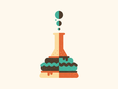 Burger Vial 7daystocreate chemistry burger vial illustration vector geometric bold