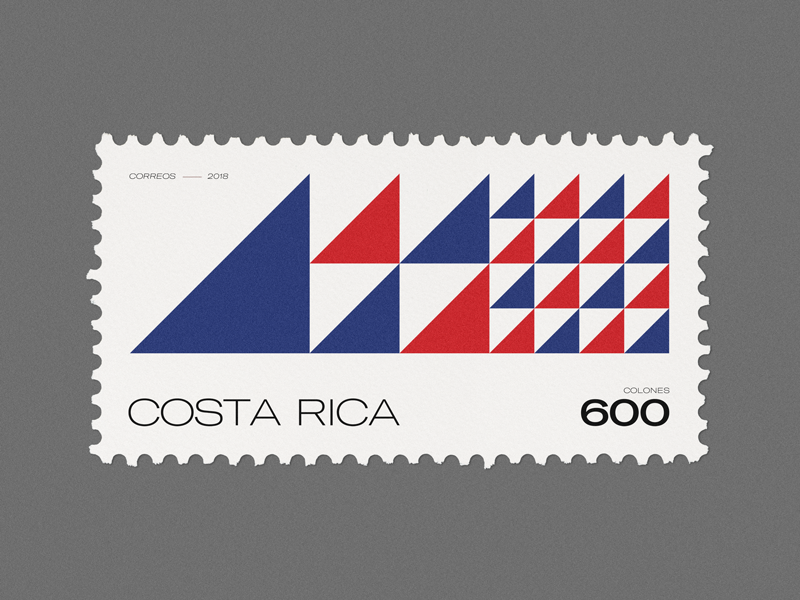 Stamp Archive — Costa Rica 🇨🇷 design graphicdesign geometric minimal symbol logo typography stamp archive