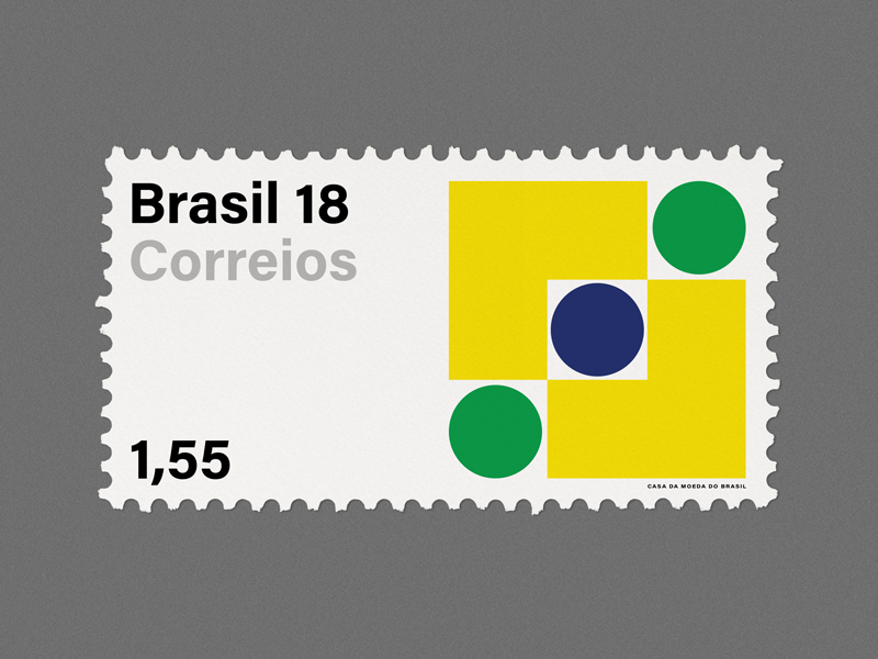 Stamp Archive — Brazil design graphicdesign geometric minimal symbol logo typography stamp archive