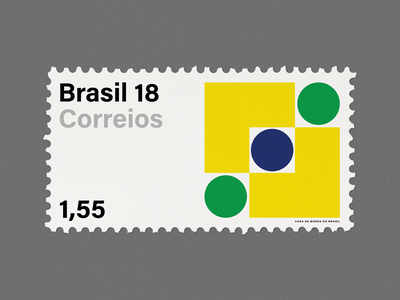 Stamp Archive — Brazil design graphicdesign geometric minimal symbol logo typography stamp archive