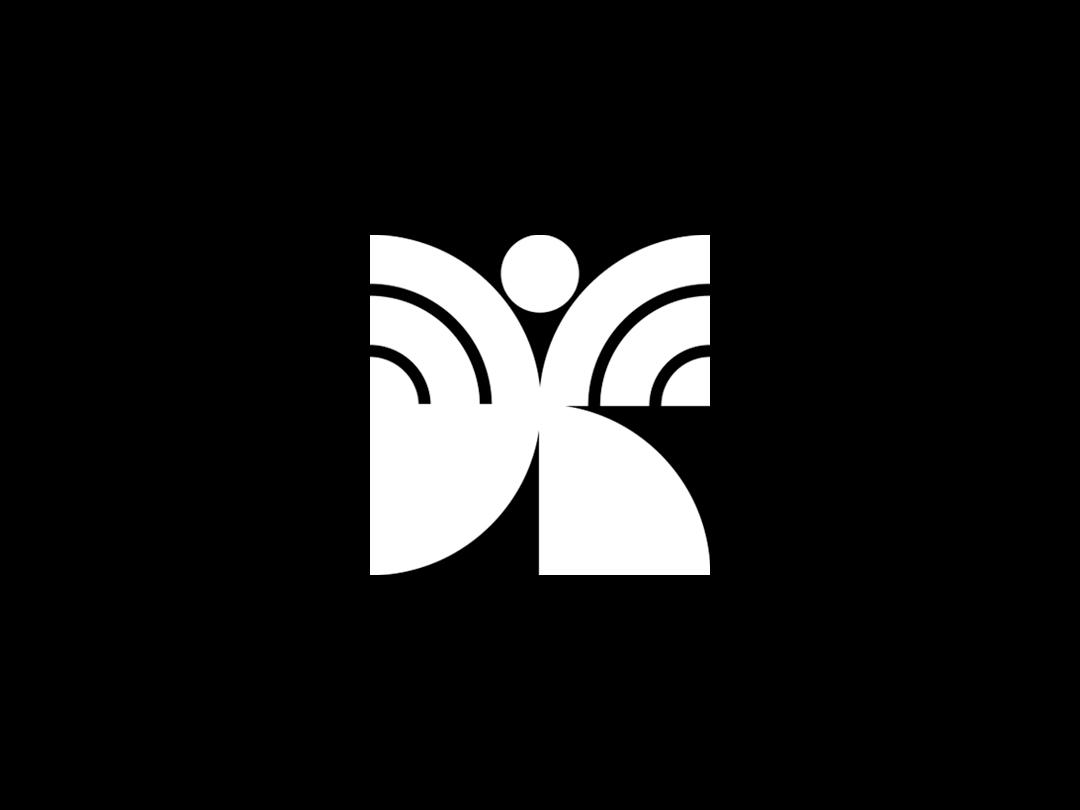 Dancer dancer design geometric emblem mark symbol logo