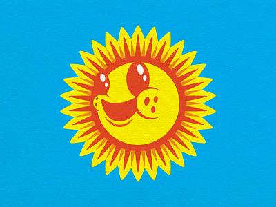 Happy Little Sun illustration cartoon sunny day summer happiness positivity happy sun logo sunshine sunny sun