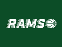 Rams Basketball Typography