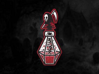 Death Potion poison bones grunge rip skeleton bottle skull sticker evil grim reaper potion death