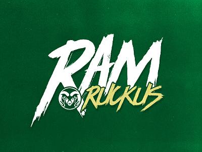 Ram Ruckus Logo Redesign ruckus colorado gold green csu lettering font typography ram colorado state university redesign logo