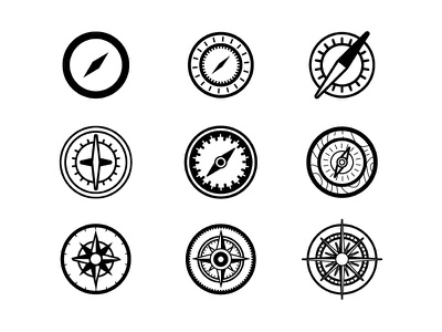 Compass Exploration west east south north travel icon navigation map nature outdoors exploration compass