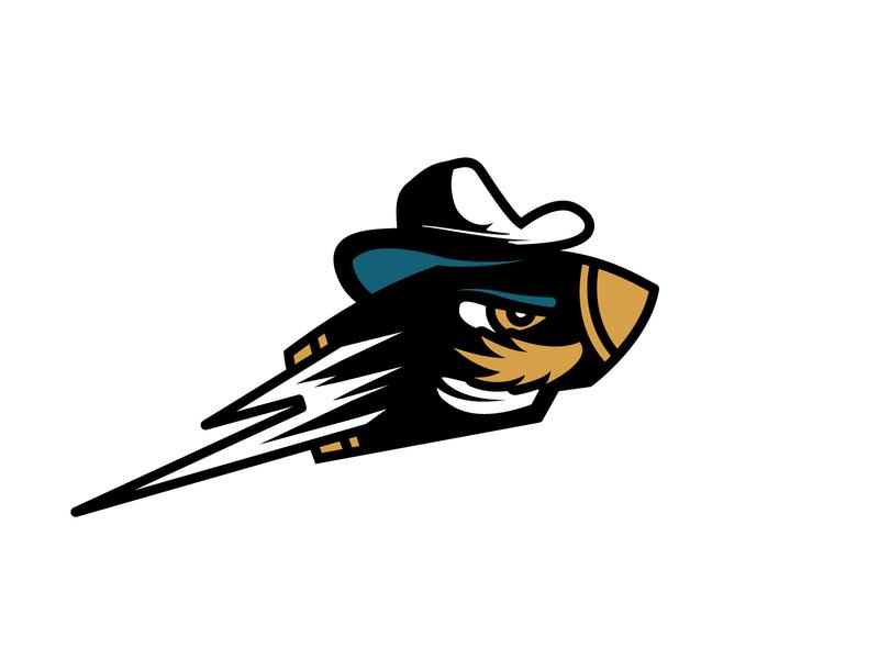 Rusty Bullets - Secondary Logo logo illustration mascot branding beer league dallas sports branding sports design sports logo mustache cowboy hat cowboy western texas bullet hockey