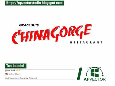 Redesign Logo CHINAGORGE vector art vectorart vector illustration vector tracing logo vector tracing