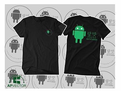 Android T Shirt Design vectorart vector illustration vector tracing logo vector tracing