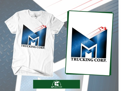Trucking Corp. Vector Tracing vector illustration vector tracing logo vector tracing branding